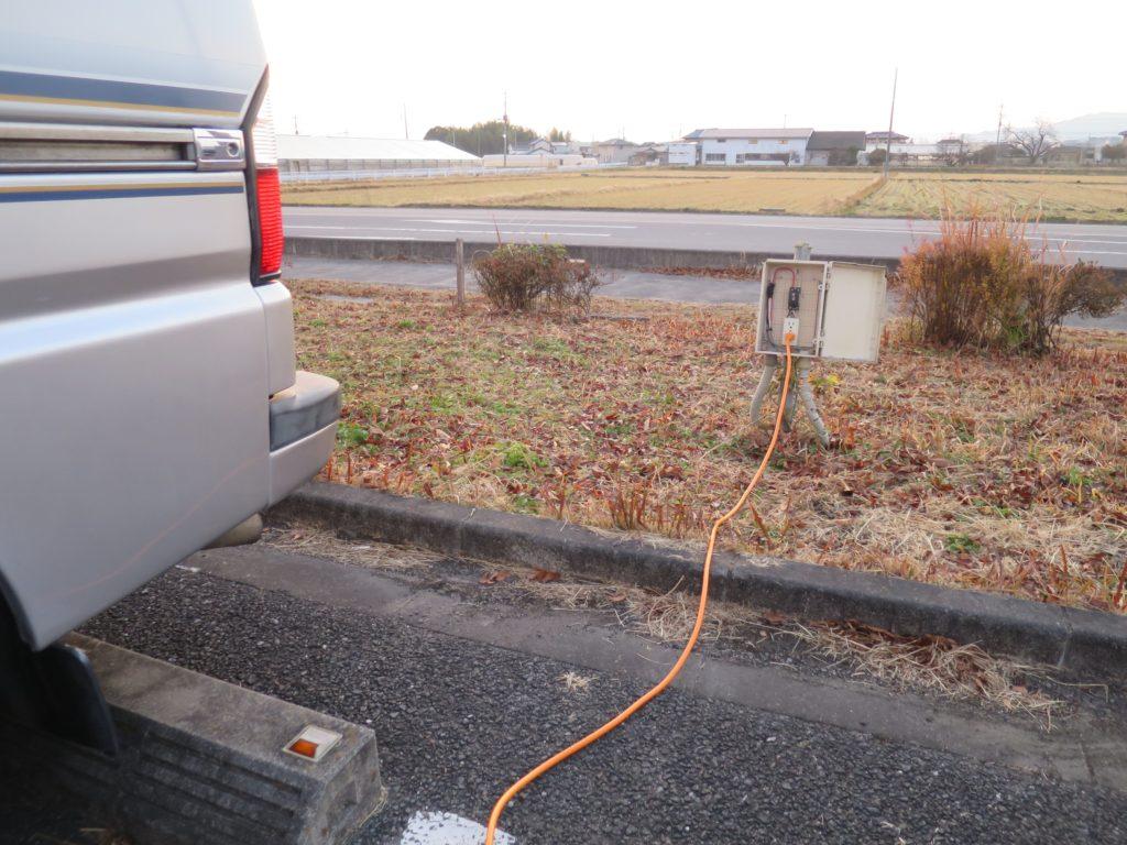 キャンピングカーと外部電源を接続!